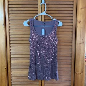 NWT Maurices Sequin Tank Top